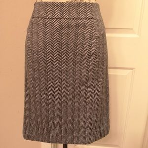 Michael Kors Pencil Skirt Size 10 Gold Zipper